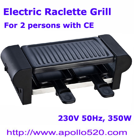 Electric Raclette Grill for 2 persons