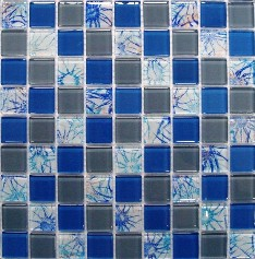 Casual Style Shining Crystal Glass Bathroom Mosaic Tile