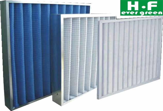 Panel air filter for clean room
