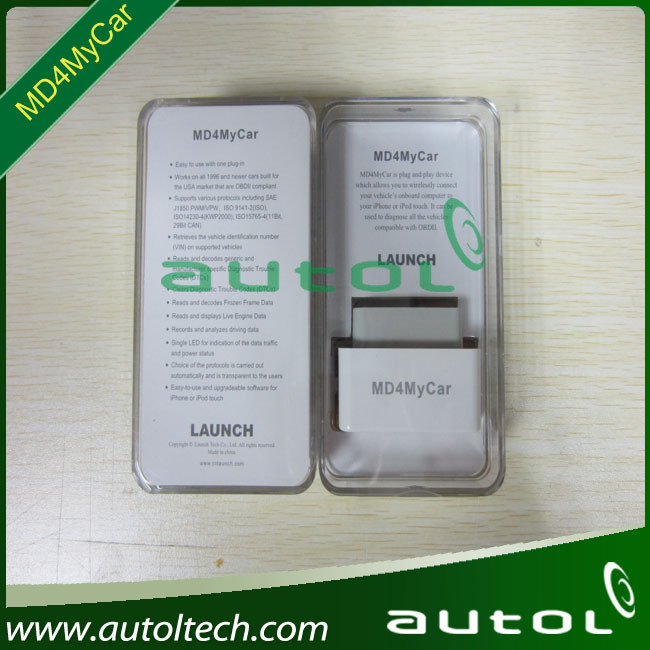 2012 Launch new product code reader MD4MyCar for iPhone update via offical website