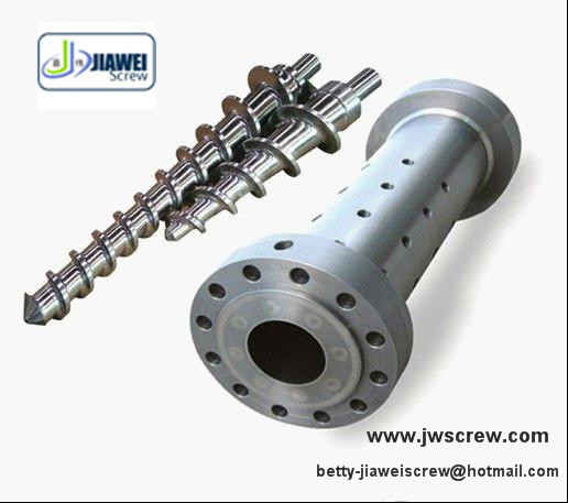 feed screw and barrel for rubber extruder machine