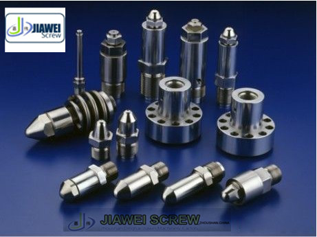 Assemble parts of screw barrel for extruder machine