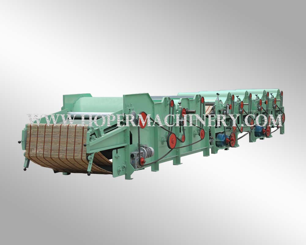Textile recycling machine