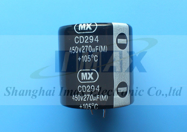 CD294 105C Snap in electrolytic capacitor