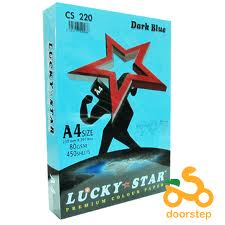 LUCKY STAR PAPER 80GSM COLOUR 450 SHEETS /REAM.5 /BOX  $2.00USD
