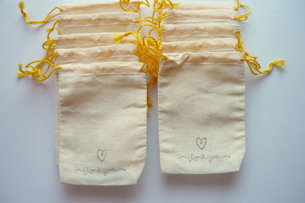 Muslin Bag, Favor Bag, Cotton Pouch & Seed Bags