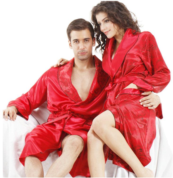 autumn lovers silk long-sleeve rose print golilla waistband silk red ...
