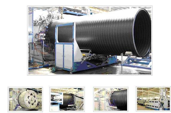 HDPE Large Diameter Hollow Wall Winding Pipe Production Line