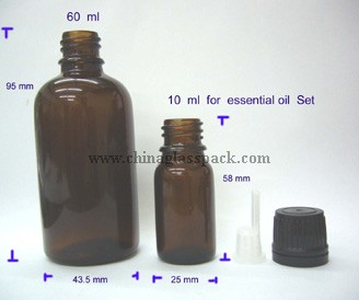 moulded glass bottle(Drop Dispensing Bottle DIN 18mm)