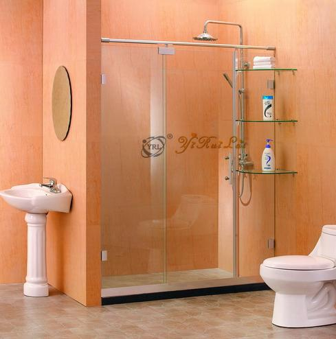 one fixed two linked sliding doors shower screen shower room