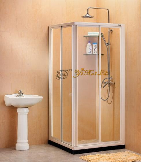 squre corner entry sliding doors shower enclosure,glass bathroom,shower cubicle,shower box