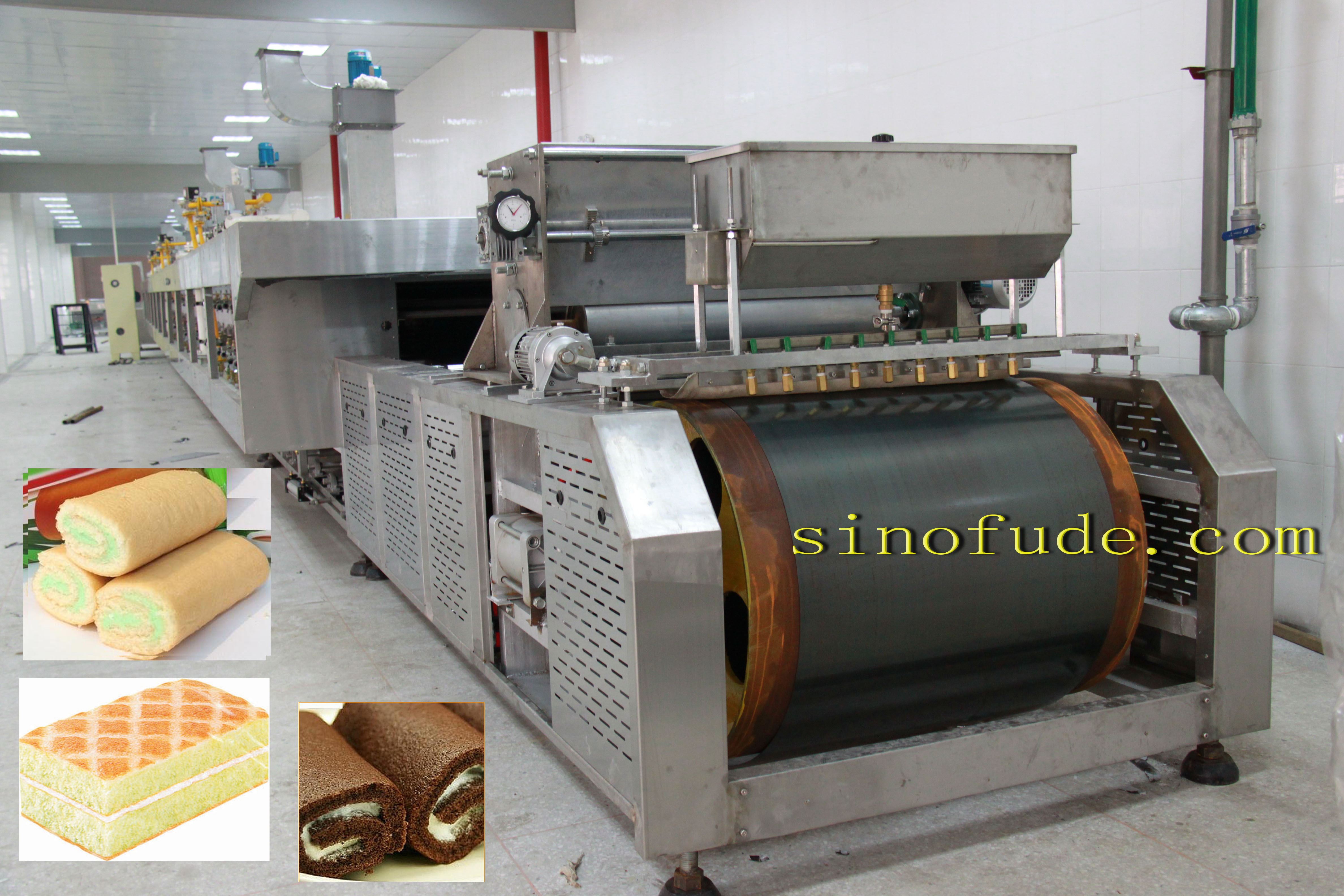 Swiss roll and layer cake line