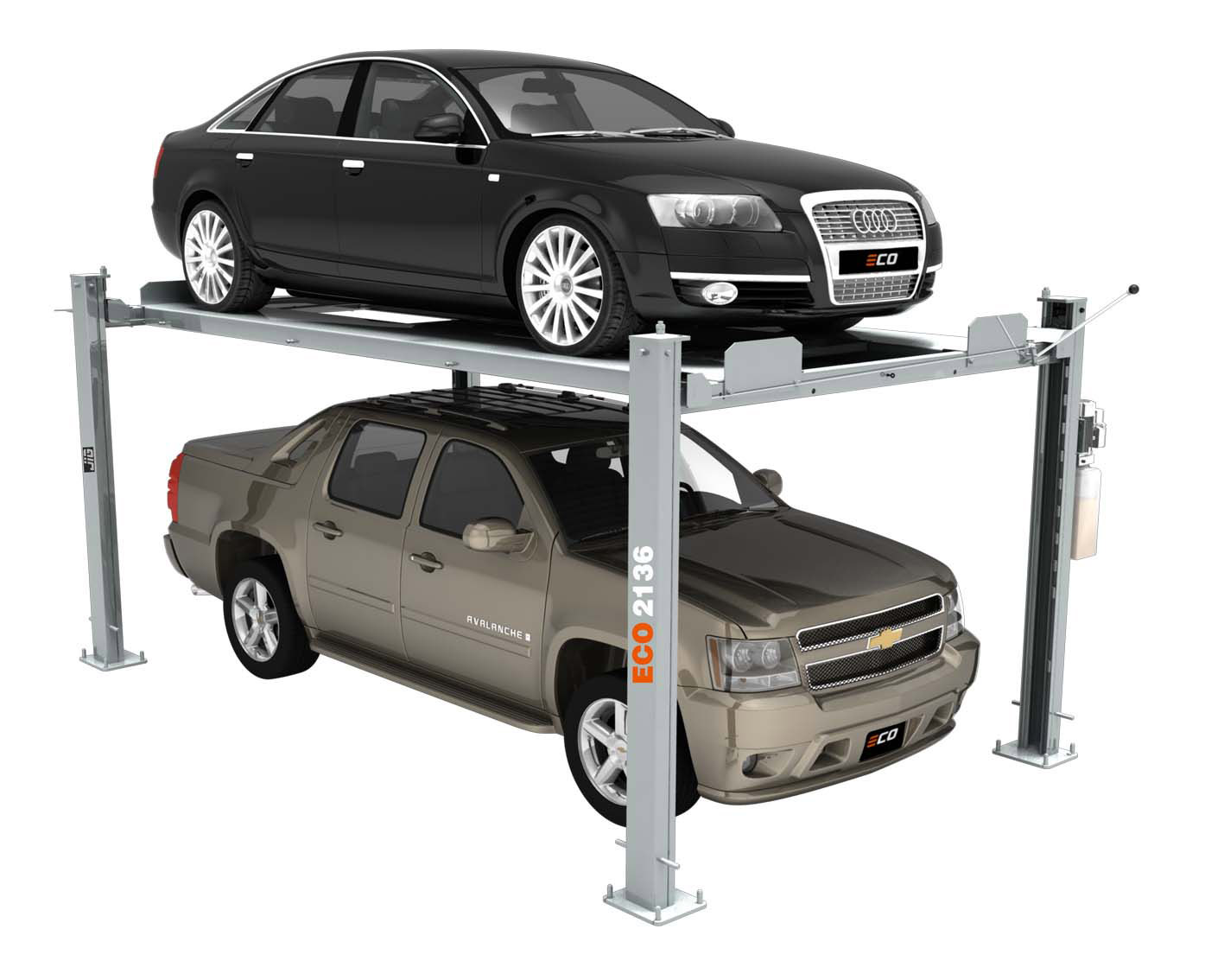 four post vehicle service lift