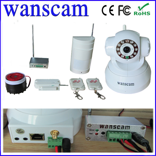 wanscam functional wifi pan tilt audio mini robot camera ip with alarm whistle
