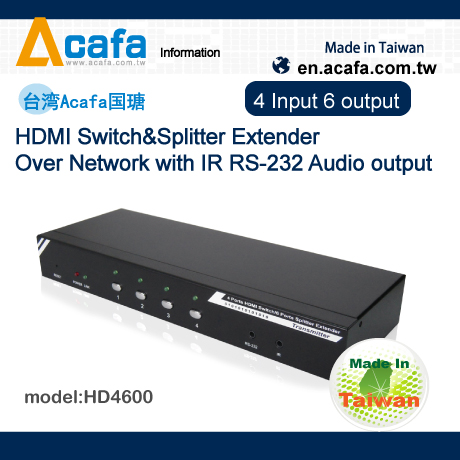 HDMI Switch&Splitter Multiple Mixing Signals Extender