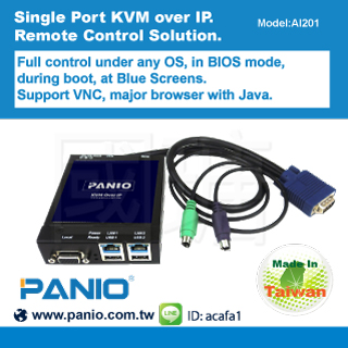 Single Port KVM over IP