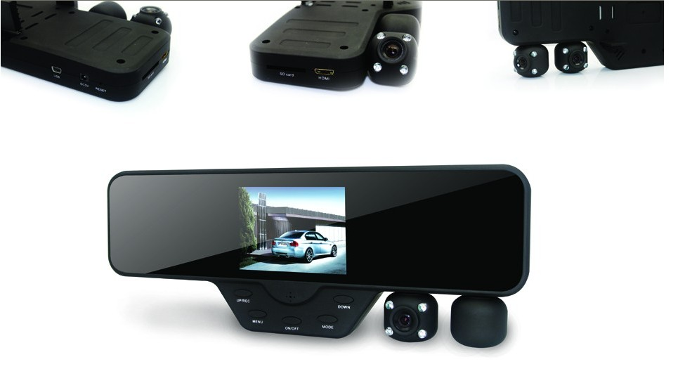 3.5 inch HD dual camera car dvr recorder car black box
