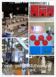 Equipment for the production of PET packaging tape