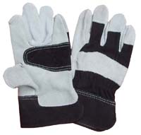 10.5Black Reinforced Palm Cowhide Leather Gloves