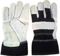 10.5Black Back Split Cowhide Leather Work Gloves
