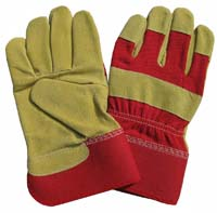 10.5Yellow Split Pigskin Leather Work Gloves