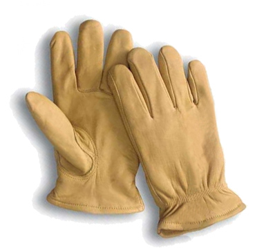 10 Yellow Grain Cowhide Leather Driver Gloves