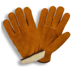 10 Brown Grain Cowhide Leather Driver Gloves
