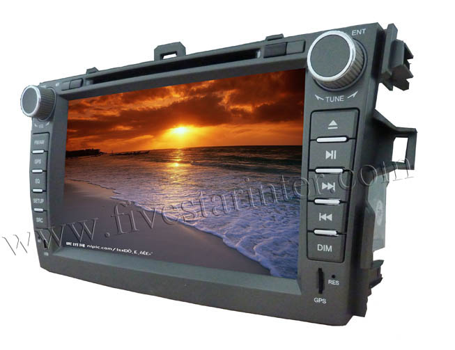 8 inch car audio dvd player for Toyota crolla