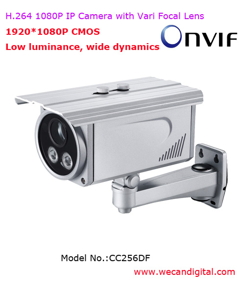 H.264 1080P Outdoor Infrared IP Camera with Vari Focal Lens