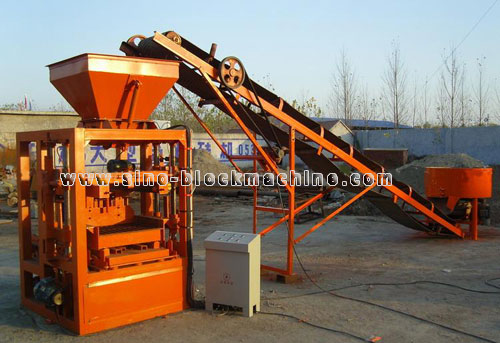 Small concrete block making machine QMJ4-35