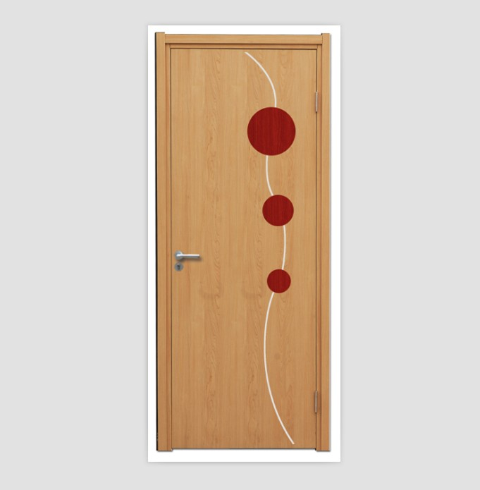 Interior PVC Foam Doors with TUV and ISO9001 Certifications