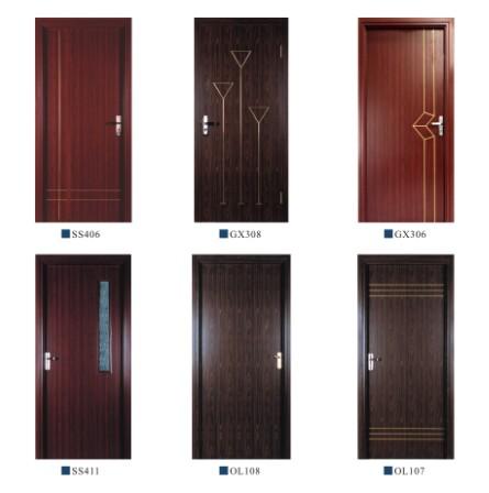 TUV U0026 ISO9001 Certificated Gorgeous Interior PVC Foam Door, Synthetic Wood  Door