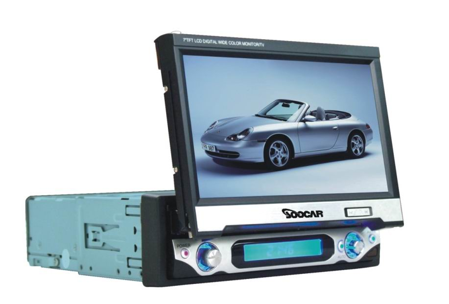 7 inch One Din In-dash Motorized TFT-LCD Monitor/DVD