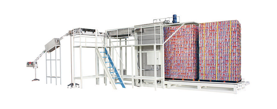 Empty can depalletizing machine