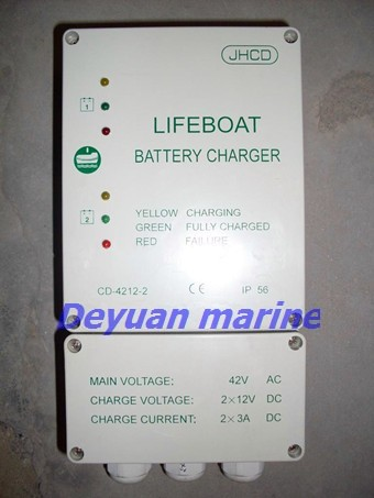 Life boat battery charger