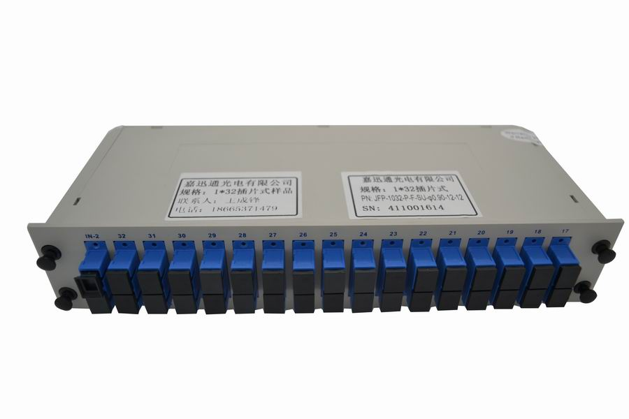 Rack mount PLC splitters