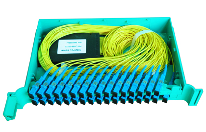 Tray type plc splitter