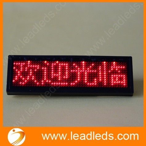 Good quality 12x48 dots led name badge