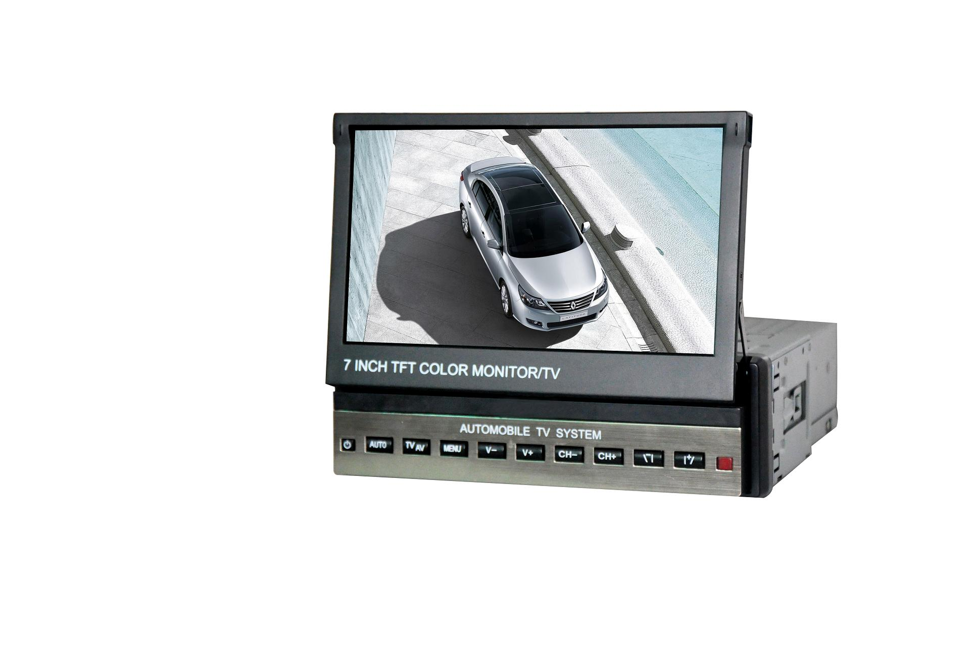 7 inch One Din In-dash Motorized TFT-LCD Monitor/TV