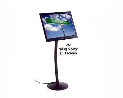 Portable LCD Signage Curved Stand ( LS-009 )