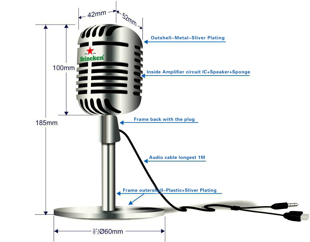 Classic Microphone Speaker  Quality Microphone Speaker
