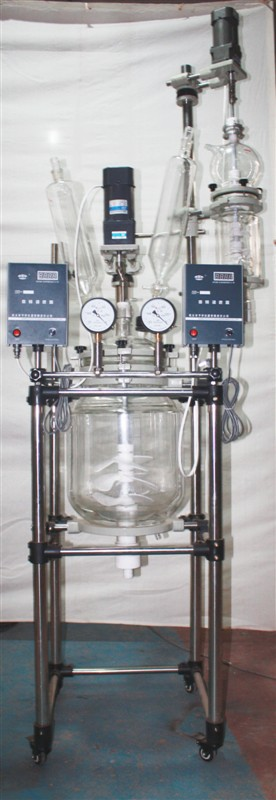 30L jacketed glass reactor