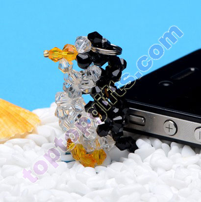 diy 3d beaded penguin 4mm crystal bicone beads animal charm