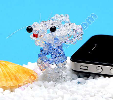 diy 3d beaded rat 4mm bicone crystal beads animal