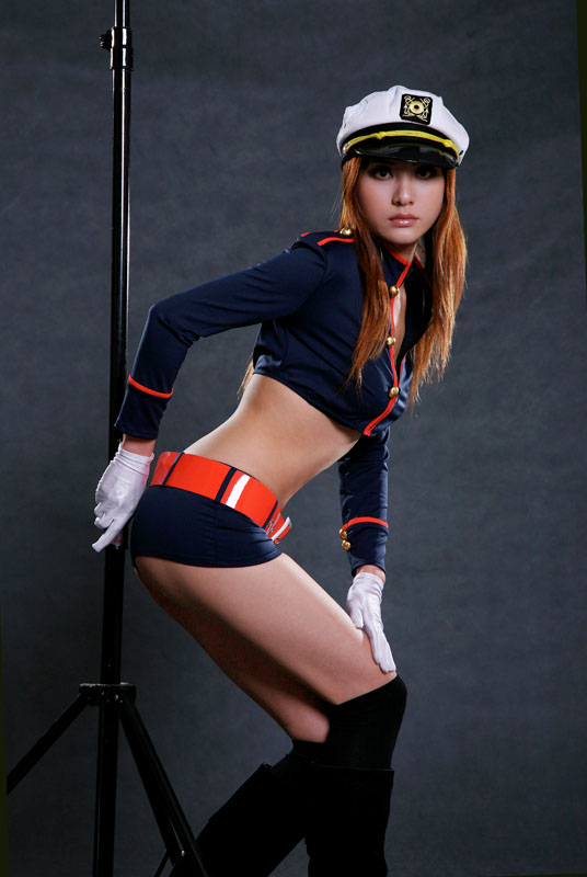 Asian Sexy Police Costume /Apparel Stock/Excess Inventory