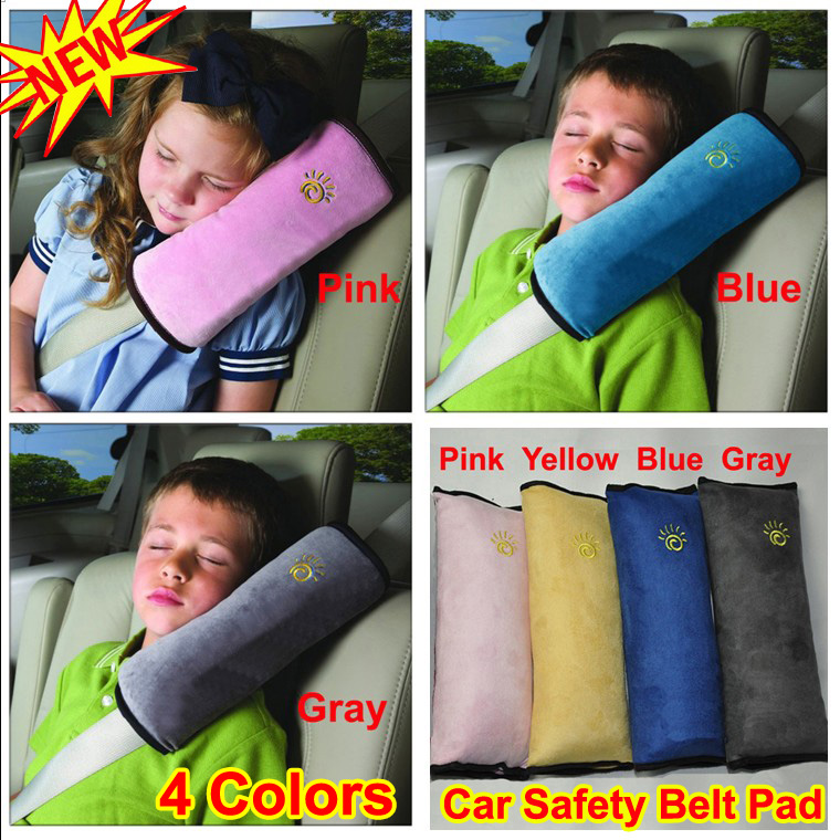 Soft Baby/Kid/Toddler/Child/Infant Vehicle Car Auto Safety Seat Belt Seatbelt Strap Harness Shoulder Pad Cover Cushion Pillow Head Neck Support Protector