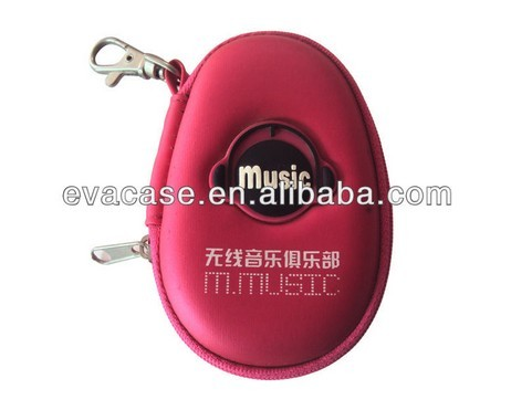 2013 EVA molded hard earphone case