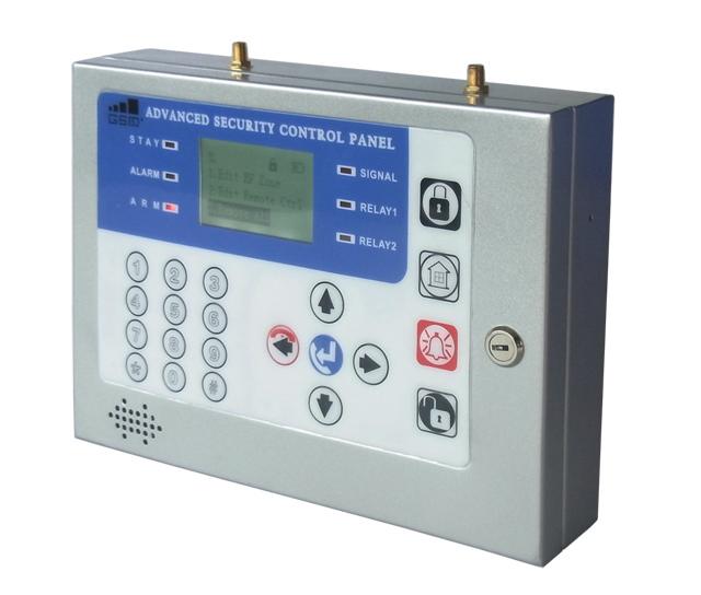 New LCD Display Menu Office GSM Alarm System !