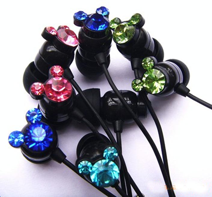 Dazzling Animals Crystal Earphone Jack Plug!!