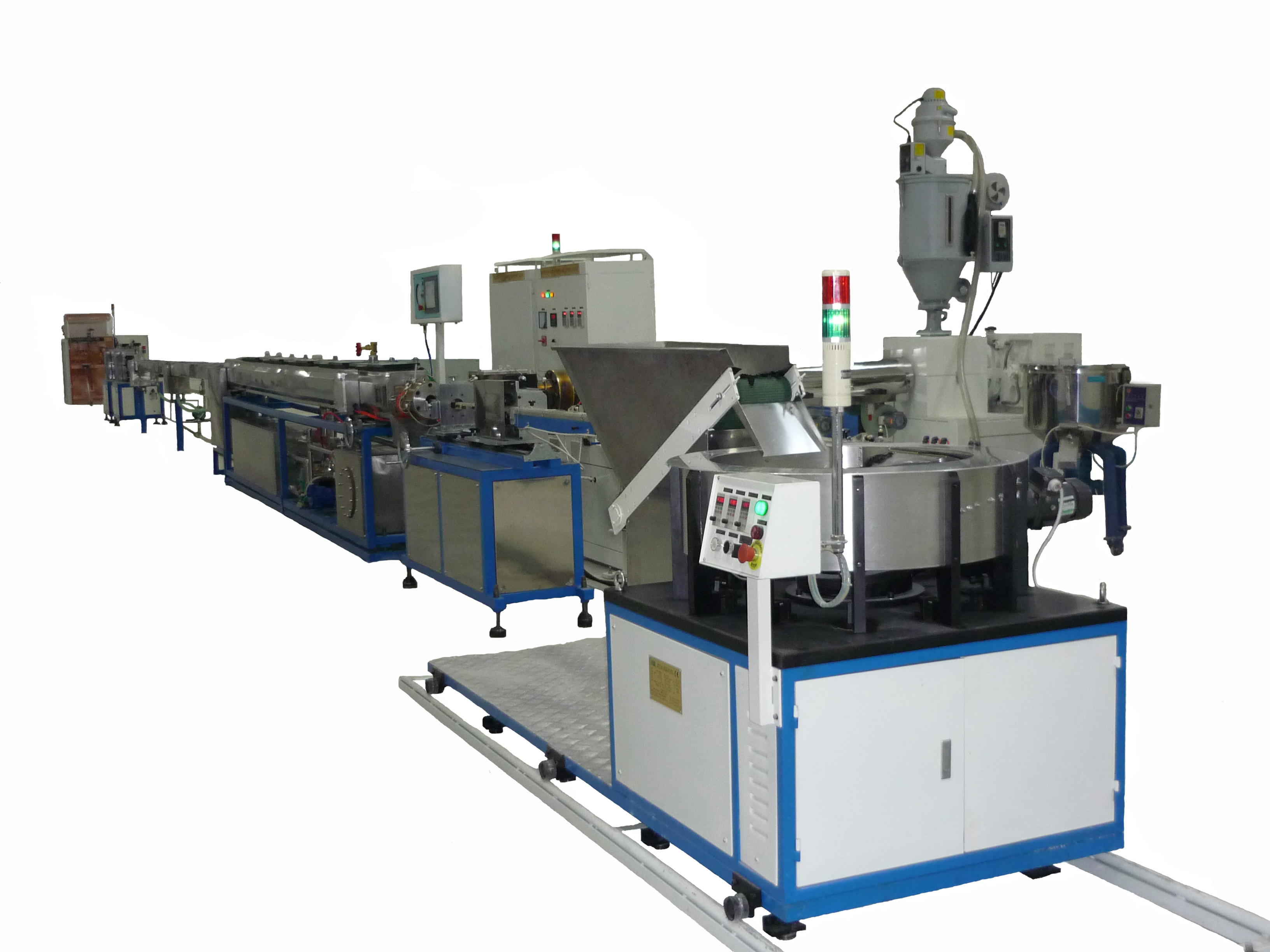 inline flat dripper type drip irrigation tape making machine